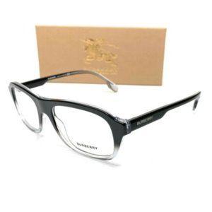 Burberry Men's Black Gradient Square Eyeglasses!
